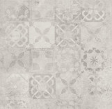 Softcement White Patchwork 597*597