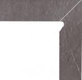 Taurus Grys Cokol Dwuelementowy Schodowy (prawy) 81*300