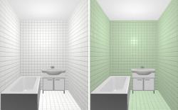 Выбираем керамическую плитку для небольшой ванной